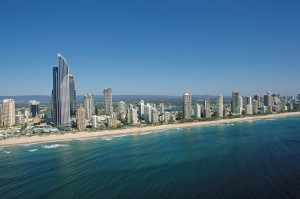 World famous beaches of the Gold Coast